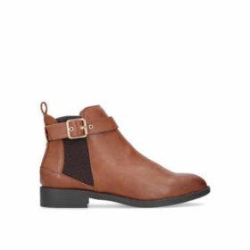 Miss Kg Jayde - Tan Flat Chelsea Boots
