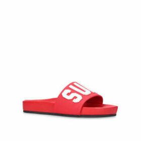 Kurt Geiger London Summer - Red Slip On Sliders