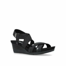 Anne Klein Siesta - Black Mid Wedghe Sandals