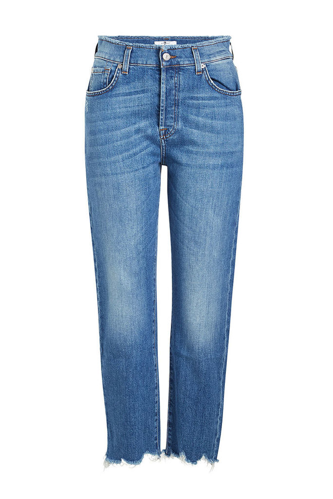 7 for all Mankind High-Waisted Josefina Cropped Jeans