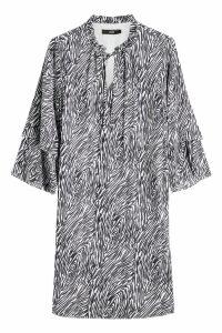 Steffen Schraut Animal Print Silk Dress