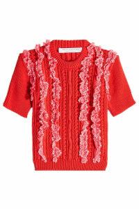 Philosophy di Lorenzo Serafini Knit Top with Ruffles