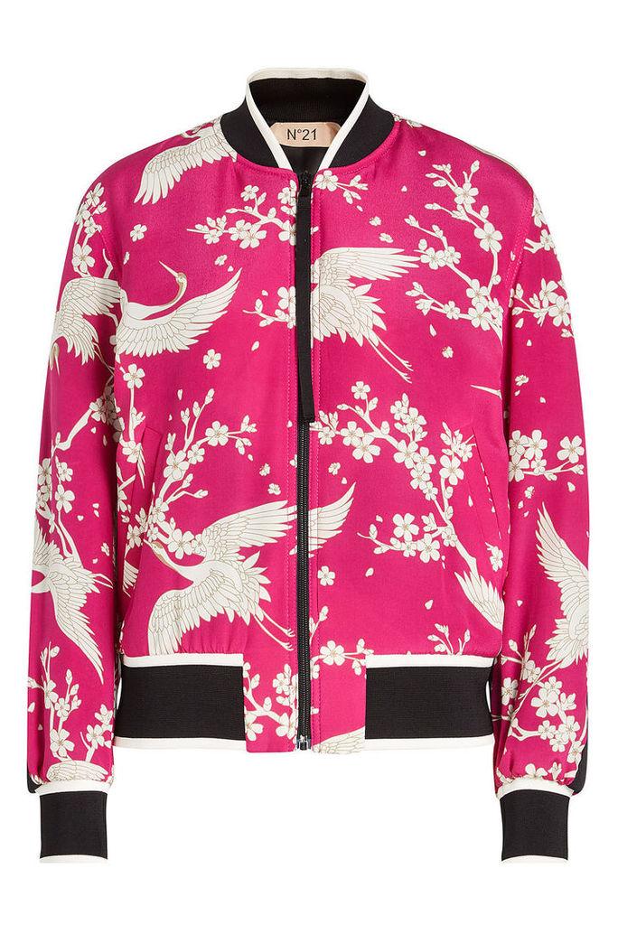 N °21 Printed Silk Jacket