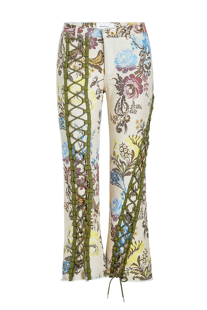 Marques' Almeida Printed Pants with Lace-Up Front