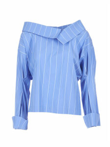 Erika Cavallini Asymmetric Striped Blouse