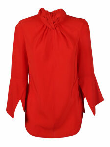 Victoria Beckham Flare-sleeve Knot Blouse