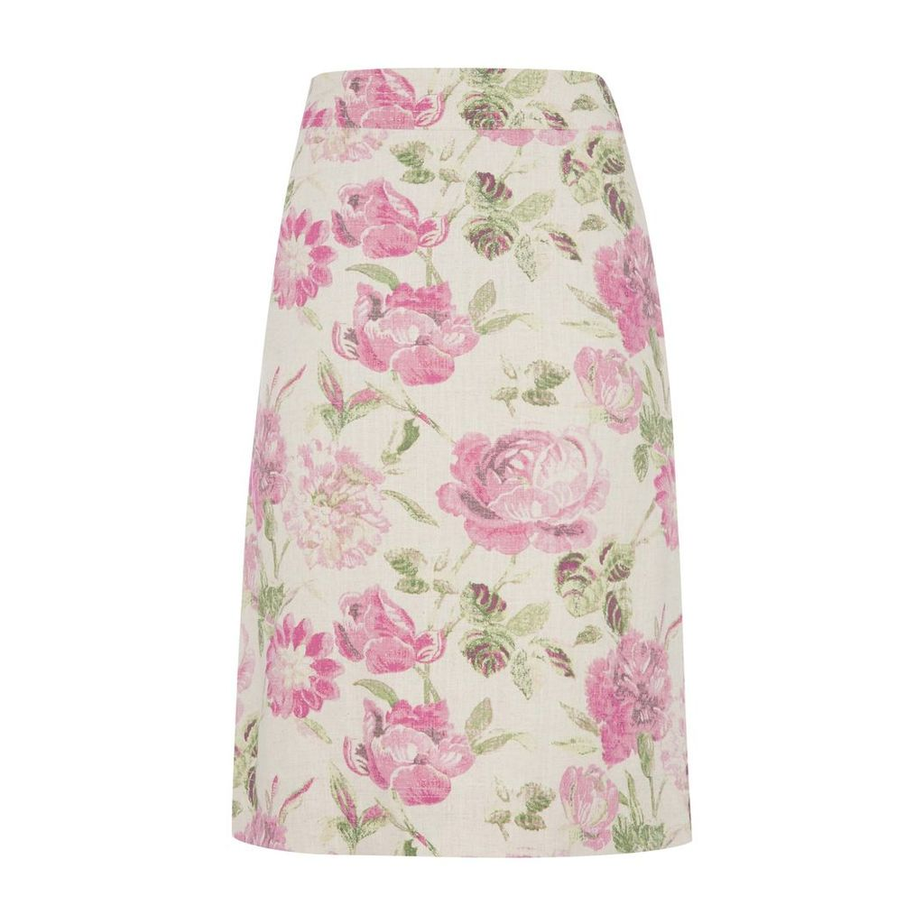 Natural Linen Springtime Fair Skirt