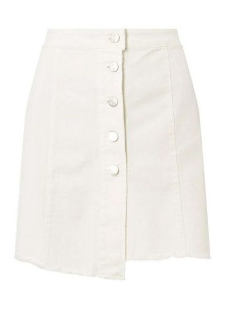 Womens **Noisy May White Denim Skirt- White