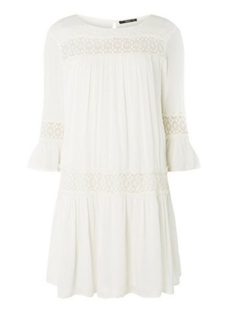 Womens **Only White Smock Dress- White
