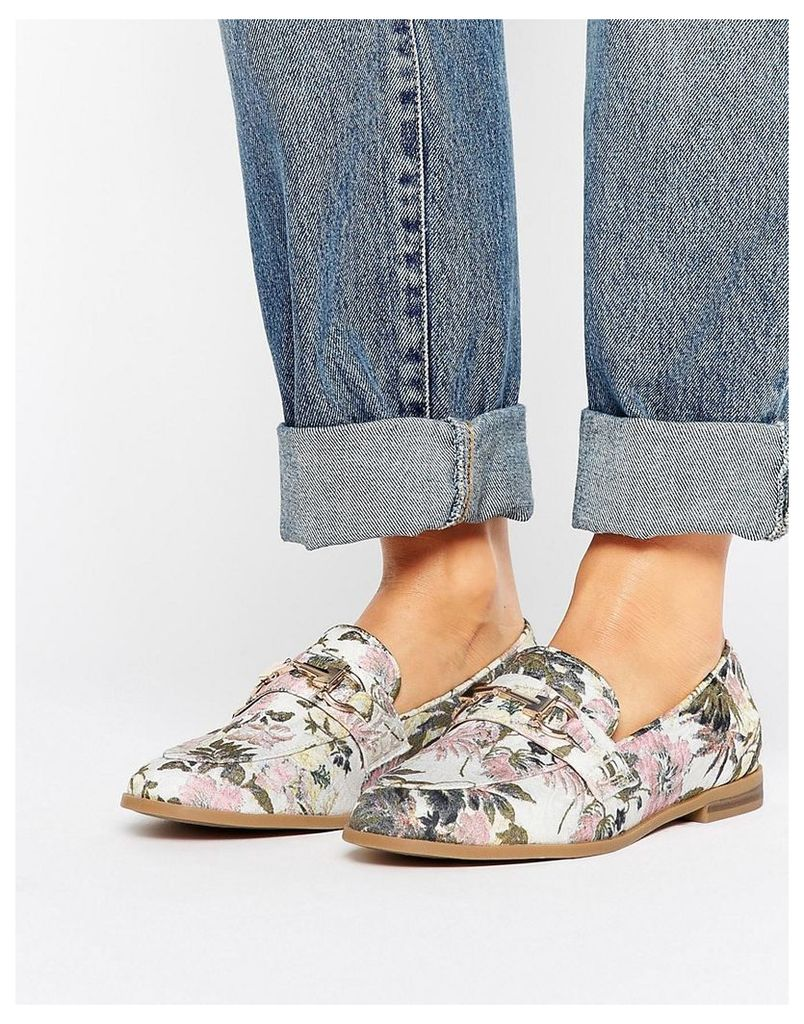 New Look Floral Buckle Loafer - Multi coloured