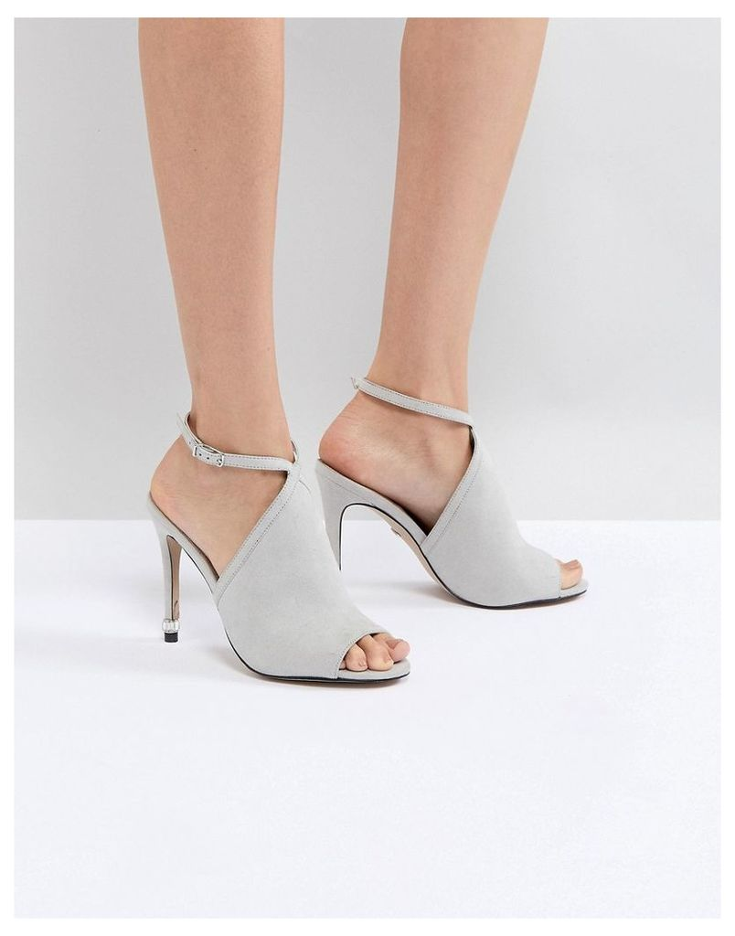 Carvela Strappy Peep Toe Shoe - Grey