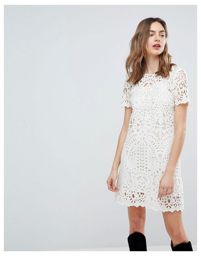 Deby Debo Guipure Lace Shift Dress - Off white