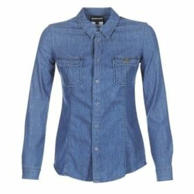 Emporio Armani  MORA  women's Shirt in Blue