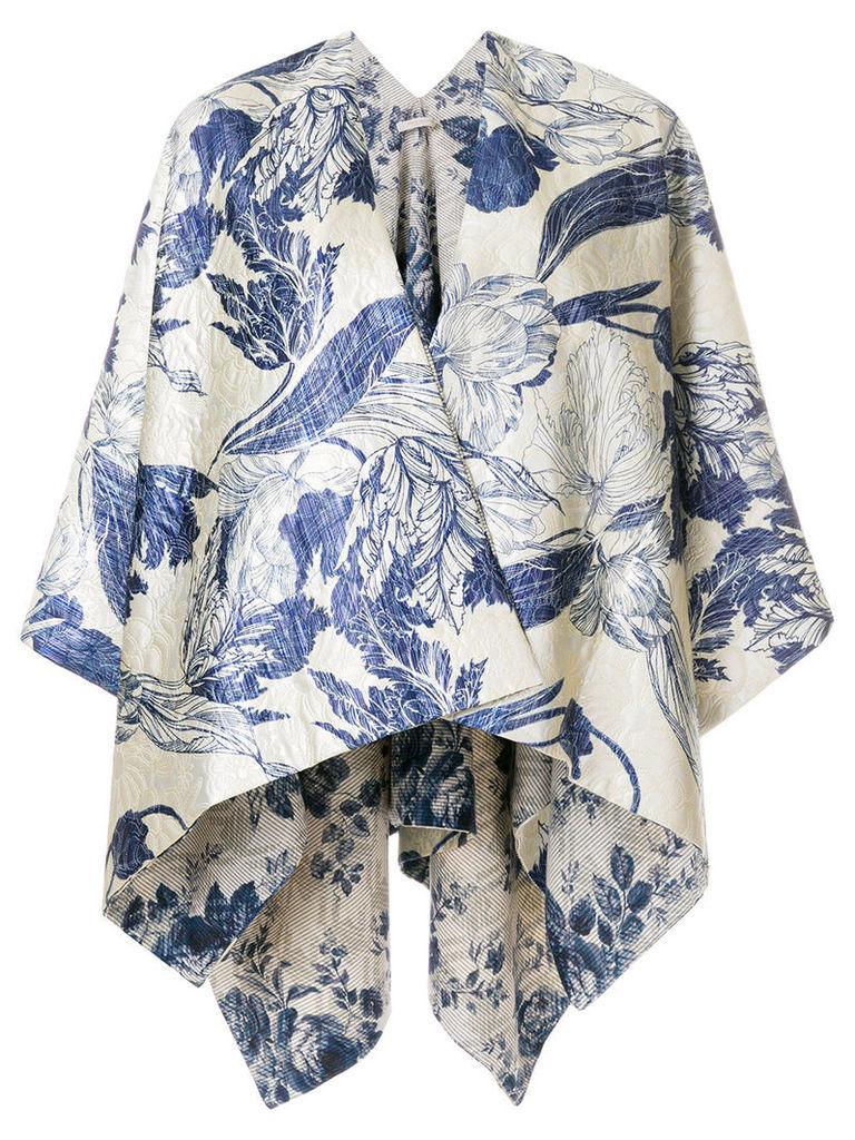 Ermanno Gallamini oversized cape jacket - Blue