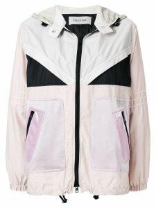 Valentino colour blocked lightweight jacket - PINK