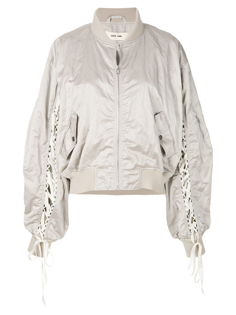 Damir Doma lace up bomber jacket - Nude & Neutrals