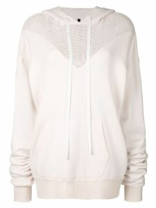 Unravel Project mesh hybrid hoodie - Pink
