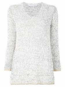 Fabiana Filippi contrast trim sweater - Grey