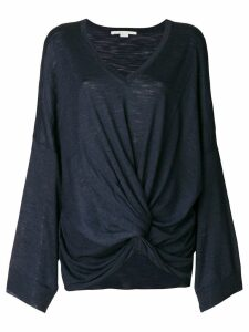 Stella McCartney V-neck knot jumper - Blue