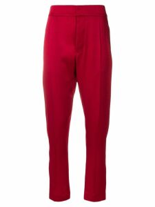 Haider Ackermann cropped sateen trousers - Red
