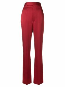 Haider Ackermann flared satin trousers