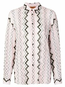 Missoni abstract print blouse - Pink