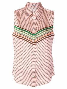 Miu Miu striped design blouse - Pink