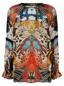 Roberto Cavalli butterfly print blouse - Multicolour