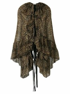 Saint Laurent leopard print blouse - Neutrals