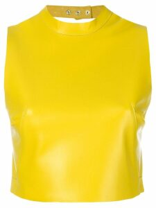 Manokhi Carrie cropped top - Yellow