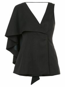 Valery Kovalska asymmetric-sleeve blouse - Black