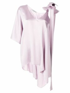 Valentino one shoulder bow blouse - PINK