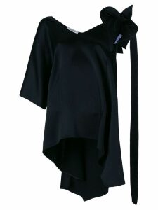Valentino asymmetric sleeve blouse - Black