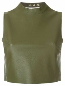 Manokhi open back top - Green
