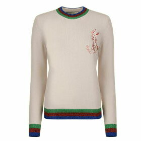 Gucci Lurex Bunny Knitted Jumper