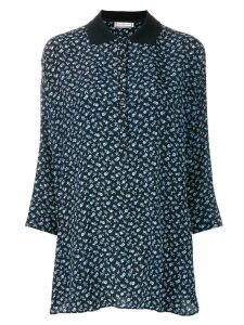 Versace Pre-Owned three-quarters sleeve floral blouse - Blue