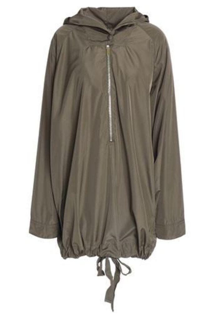 Stella Mccartney Woman Shell Hooded Jacket Army Green Size 40