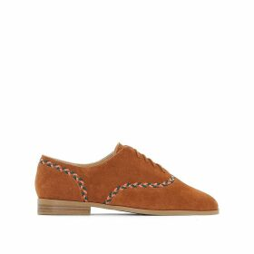 Leather Brogues with Woven Detail