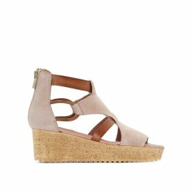 Rescue Leather Wedge Sandals