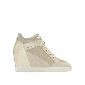D Eleni C Wedge Suede Trainers