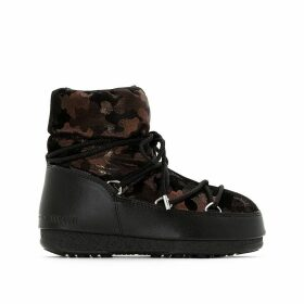 Low Camu Fur-Lined Boots