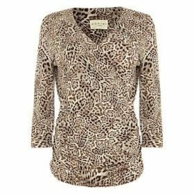 Damsel in a Dress Leopard Kacey Top, Brown