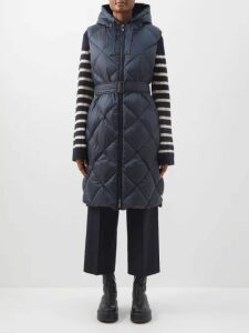 Givenchy - Logo-print Striped Cotton-blend Sweater - Womens - Red Multi