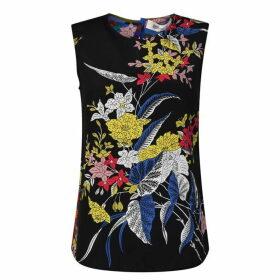 Diane Von Furstenberg Shell Floral Top