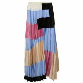 Marni Multi Coloured Pleated Maxi Skirt