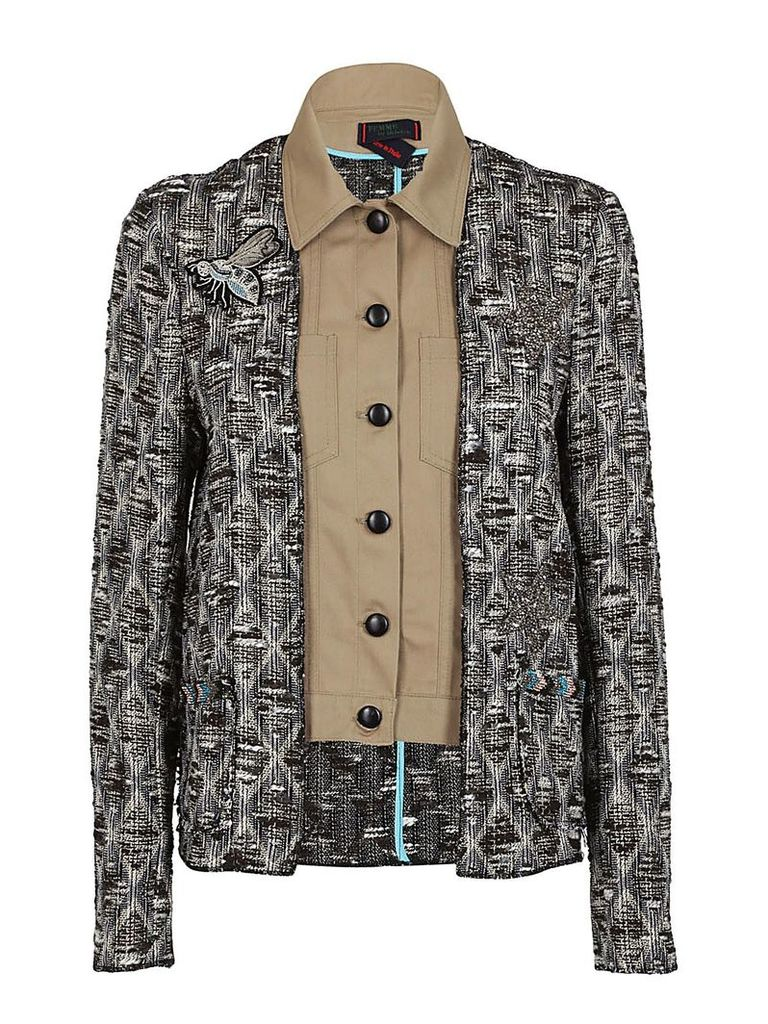 Femme By Michele Rossi Button-up Jacket