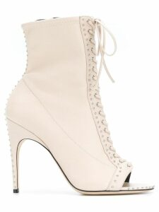 Sergio Rossi lace-up open toe boots - Neutrals
