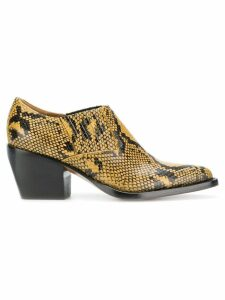 Chloé snake printed boots - Yellow