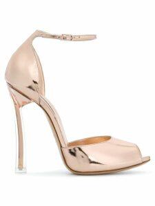 Casadei peep toe sandals - Metallic
