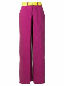 Aalto belted wide leg jeans - Pink